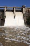 Expulsion of water after heavy rains in the embalse de Puente Nuevo Stock Images