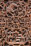 Exquisite ancient woodcut. The exquisite woodcut often appears on the ancient building of China Stock Photos