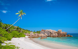 Exquisite Anse Cocos Beach In The Seychelles Stock Image