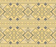 Exquisite antique seamless ornament. Exquisite antique pattern. Ancient Hellenic seamless ornament. Sandy yellow and gray colors Stock Photography