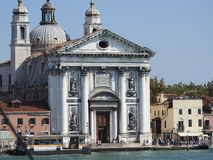 Exquisite architecture of Venice, Italy, stone facades and design elements, a trip to Europe stock photography