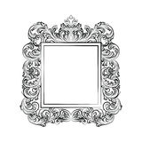 Exquisite Baroque Rococo Mirror frame Royalty Free Stock Image