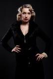 Exquisite blonde. Portrait of exquisite blonde. retro style Stock Image