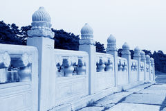 Exquisite bridge railing, Eastern Royal Tombs of the Qing Dynast Stock Image