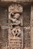 Exquisite carved lady dancer, Sun temple Konark. Konark Sun Temple  also known as the Black Pagoda ia a 13th-century Sun Temple at Konark, in Orissa.The entire Royalty Free Stock Images