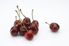 Exquisite cherries Royalty Free Stock Photos