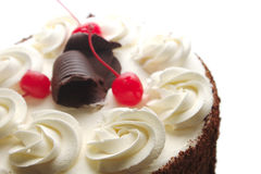 Exquisite Cherry Cake Royalty Free Stock Photography