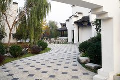 Exquisite Chinese courtyard Royalty Free Stock Photos