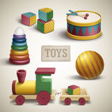 Exquisite colorful toys set Royalty Free Stock Photography