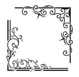 Exquisite Corner Ornamental Designs Royalty Free Stock Photo