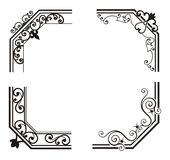 Exquisite Corner Ornamental Designs Royalty Free Stock Images