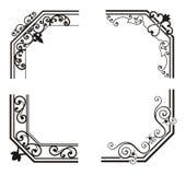 Exquisite Corner Ornamental Designs royalty free illustration