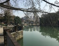 Exquisite courtyards and riverside landscapes with representative Jiangnan style in China royalty free stock photography