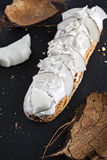 Exquisite cream dessert eclair Stock Image