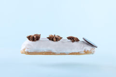 Exquisite cream dessert eclair Royalty Free Stock Images