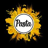 Exquisite delicious pasta of best quality promotional poster Royalty Free Stock Image