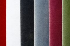 Exquisite fabric samples in adorable colours. High resolution photo Royalty Free Stock Image
