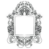 Exquisite Fabulous Imperial Baroque Mirror frame Stock Photos