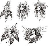 Exquisite fantasy girls vector illustration