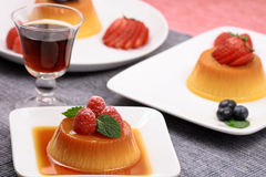 Exquisite flan dessert. Perfect flan dessert made at  with prime ingredients Stock Photo