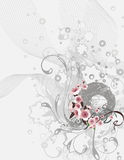 Exquisite floral background. Exquisite floral ornamental design, vector illustration series Stock Photography