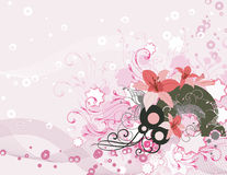 Exquisite floral background Stock Images