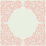 Exquisite frame, doodle style ornamental design Royalty Free Stock Photo