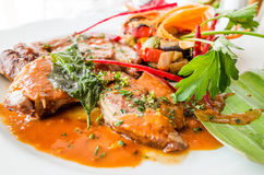Exquisite French cuisine Royalty Free Stock Images
