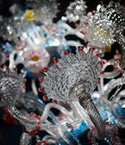 Exquisite glass chandelier Royalty Free Stock Photo