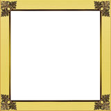 Exquisite gold and golden yellow picture or border frame Stock Photo