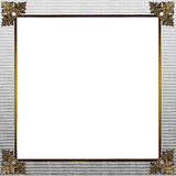 Exquisite gold and grey picture or border frame Stock Photo