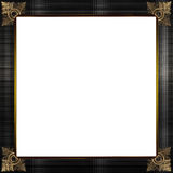 Exquisite gold and grey textured picture or border frame Stock Photos