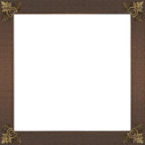 Exquisite gold and rough copper picture or border frame Stock Images