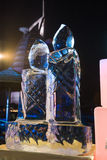 Exquisite hand made ice sculpture at a beach brunch in dubai,uae Stock Photos