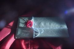 Exquisite chocolate with rose royalty free stock images