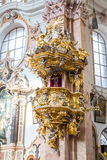 Exquisite Interior of church, Wieskirche - Steingaden, Germany Stock Image