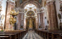 Exquisite Interior of church, Wieskirche - Steingaden, Germany Stock Photos