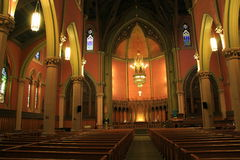 Exquisite interior of historic Church Of The Covenant,Boston,Mass,2014 Royalty Free Stock Photos