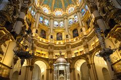 Free Exquisite Interiors Of Granada Royal Cathedral Stock Photo - 174159430
