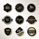 Exquisite labels set Stock Photos