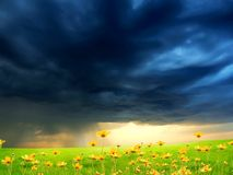 Exquisite landscape with stormy skies Stock Photos