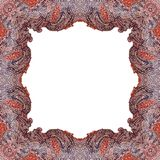 Ornamentally colored symmetrical, square shaped frame design Royalty Free Stock Photography