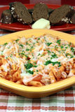 Exquisite  pasta with  fresh tomatoes sauce Stock Image
