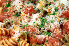 Exquisite  pasta with  fresh tomatoes sauce Royalty Free Stock Photography