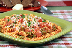 Exquisite  pasta with  fresh tomatoes sauce Stock Photography