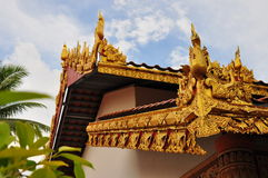 Exquisite roof design. Exquisite designs on temple roof Royalty Free Stock Photo