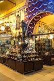 Exquisite samovars, glass lamps and lanterns Royalty Free Stock Images