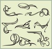 Exquisite Scroll Ornamental Designs Stock Photo