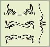 Exquisite Scroll Ornamental Designs Stock Photography