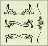 Exquisite Scroll Ornamental Designs vector illustration